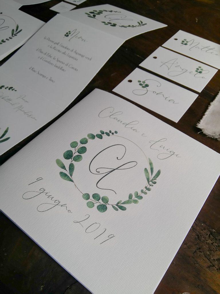tipografia con eucalipto