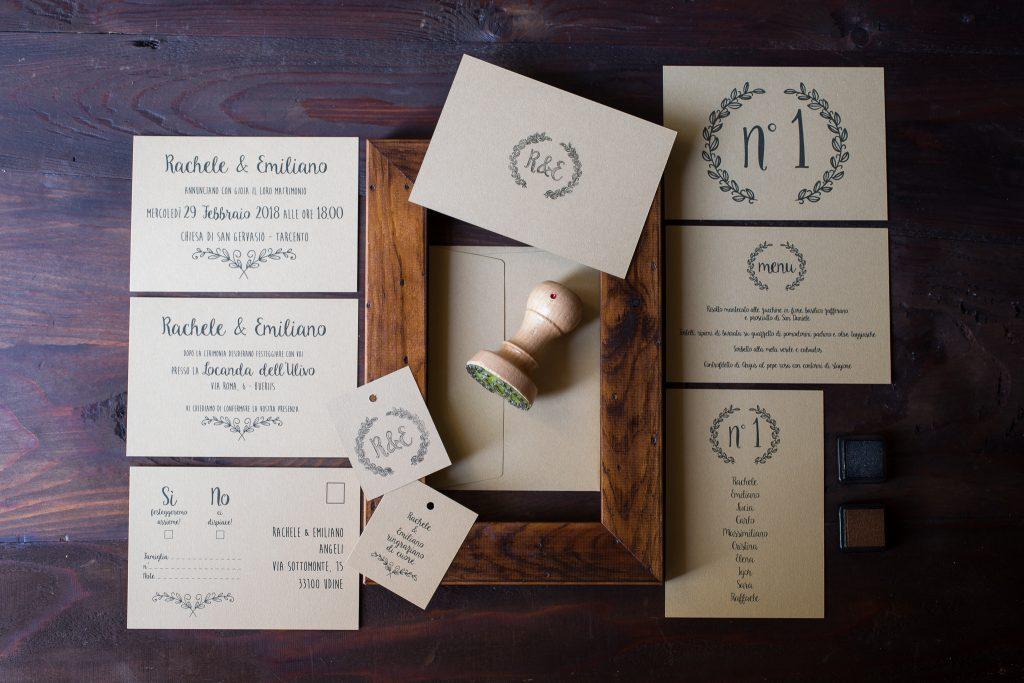 la tipografia di matrimonio